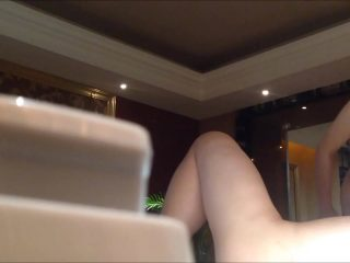 Hot sex of a beautiful blonde with a guy's friend
