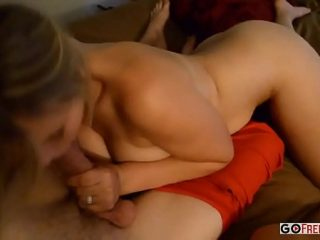 Tanned girls suck the cock of a young cute boy