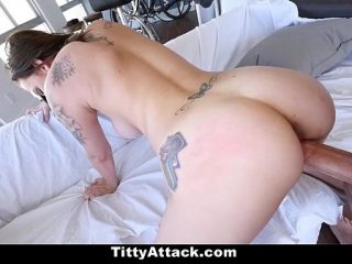 Very beautiful Blowjob from a bright brunette and sex on camera from the first person